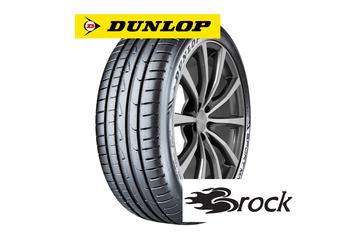 Dunlop SportMaxx RT 2 auf Alufelge Brock B32 himalaya-grey-front-poliert